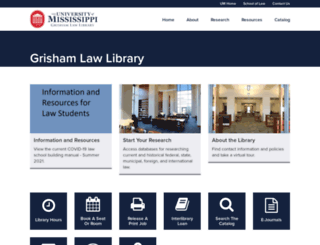 library.law.olemiss.edu screenshot
