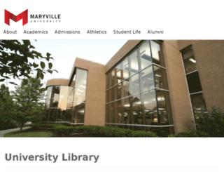 library.maryville.edu screenshot