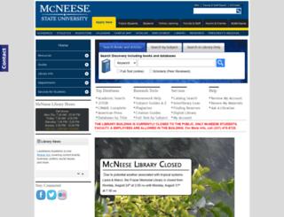 library.mcneese.edu screenshot