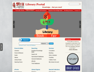 library.miuegypt.edu.eg screenshot