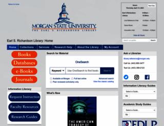 library.morgan.edu screenshot