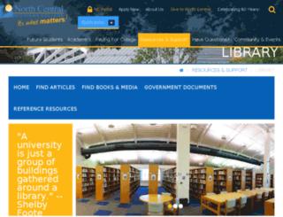 library.ncmich.edu screenshot