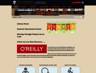 library.neit.edu screenshot