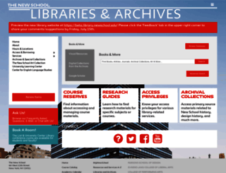 library.newschool.edu screenshot