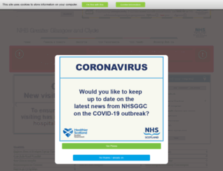 library.nhsggc.org.uk screenshot