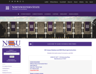 library.nsula.edu screenshot