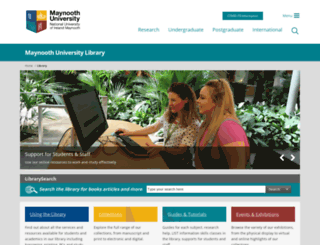 library.nuim.ie screenshot