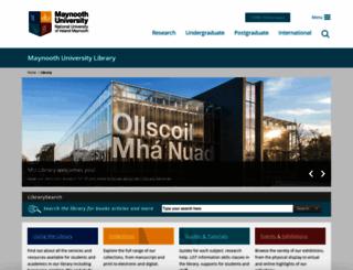 library.nuim.ie screenshot