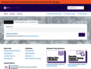 library.nyu.edu screenshot
