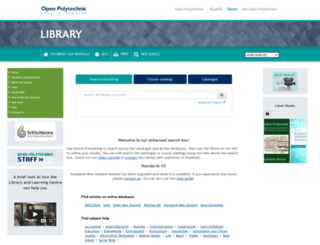 library.openpolytechnic.ac.nz screenshot