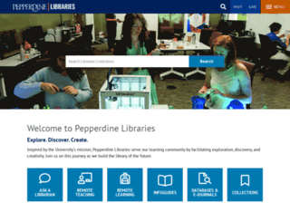 library.pepperdine.edu screenshot
