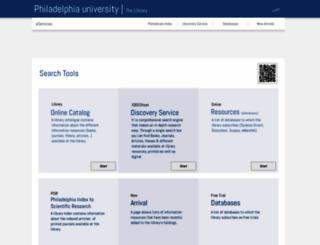 library.philadelphia.edu.jo screenshot