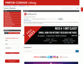library.piercecollege.edu screenshot