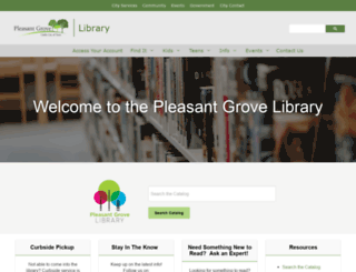 library.plgrove.org screenshot