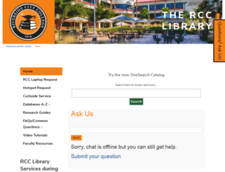 library.rcc.edu screenshot