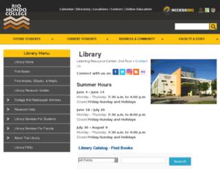 library.riohondo.edu screenshot