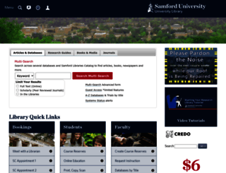 library.samford.edu screenshot