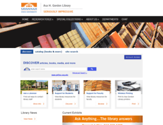 library.savannahstate.edu screenshot
