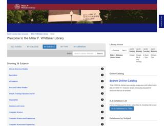 library.scsu.edu screenshot