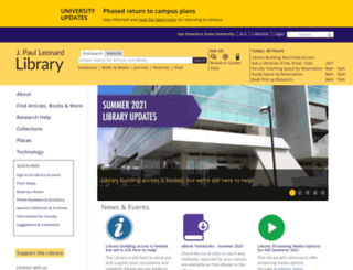 library.sfsu.edu screenshot