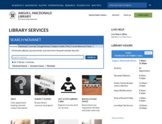 library.stfx.ca screenshot