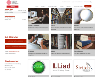 library.stritch.edu screenshot