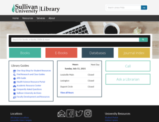 library.sullivan.edu screenshot