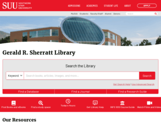 library.suu.edu screenshot