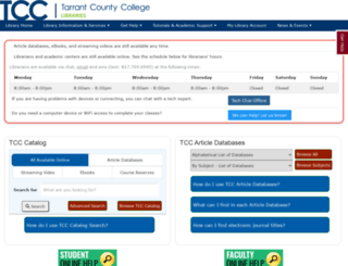 library.tccd.edu screenshot