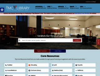 library.tmc.edu screenshot