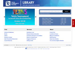 library.tulsacc.edu screenshot