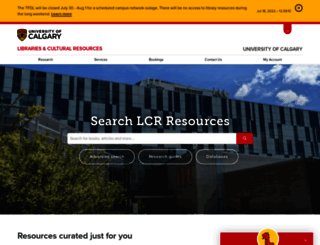 library.ucalgary.ca screenshot