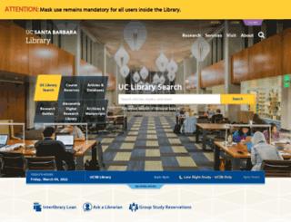 library.ucsb.edu screenshot