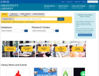 library.ucsc.edu screenshot