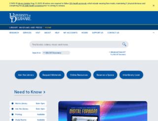library.udel.edu screenshot