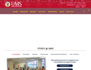 library.ums.edu.my screenshot