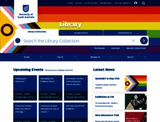 library.unisa.edu.au screenshot