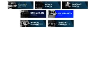 library.uph.edu screenshot