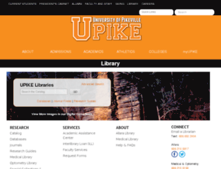 library.upike.edu screenshot