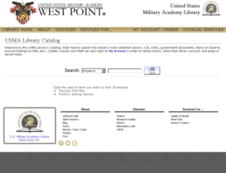 library.usma.edu screenshot