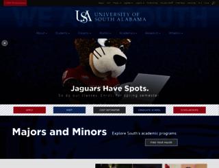 library.usouthal.edu screenshot