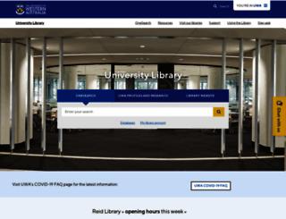 library.uwa.edu.au screenshot