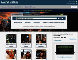 library.uwb.edu screenshot
