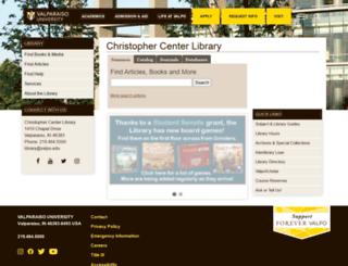 library.valpo.edu screenshot