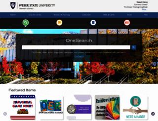 library.weber.edu screenshot