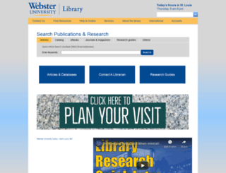 library.webster.edu screenshot