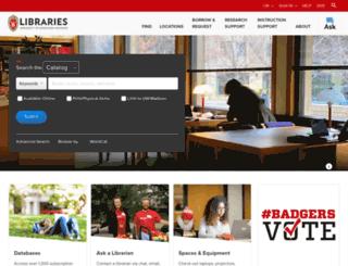 library.wisc.edu screenshot