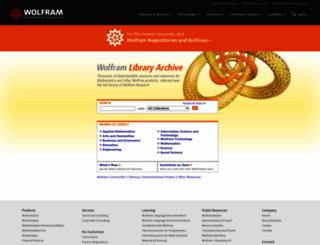 library.wolfram.com screenshot