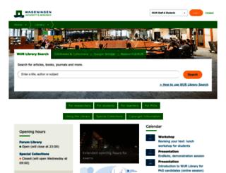 library.wur.nl screenshot