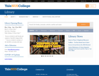library.yale-nus.edu.sg screenshot